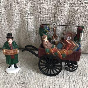 """DEPT. 56- """"Chelsea Market Curiosities Monger&Cart"""